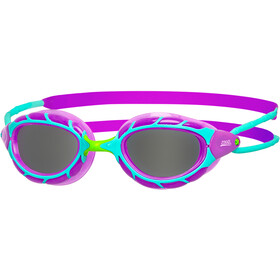 Zoggs Predator Goggles Kinderen, purple/light blue/smoke